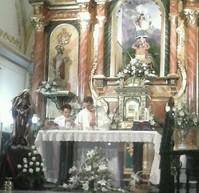 ENTRONIZACIÓN DE SANTA MARÍA EUGENIA EN LA IGLESIA DE CELÍN